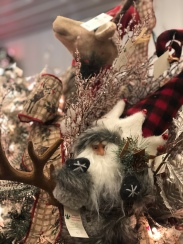 plush tree ornaments at Santa's Christmas Tree Shop, Mattituck, Santa, deer