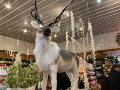 Giant reindeer Decor at Christmas Tree farm, Cutchogue, New York