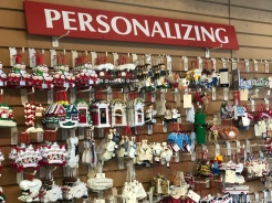 hanging ornaments for sale to personalize at Santa's Christmas Tree Shop, Mattituck