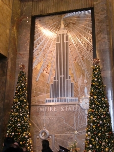 Lobby Entrance to Empire State Building at Christmas, New York City