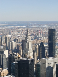 View from the top.  Chrysler Building