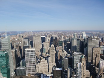 View of NYC from top of Empire State Building