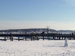 Docks in the winter