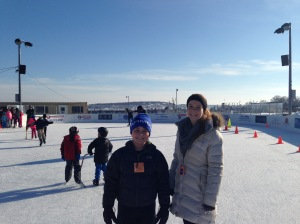 Ice Rink on the waterfront