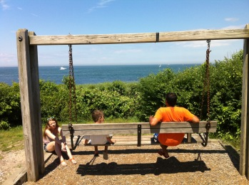 Swing at Montauk State Park, view Ocean, New York