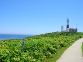 walkway to the Montauk Point Lighthouse, Long Island, New York