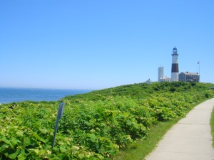 walkway to the Montauk Point Lighthouse, Long Island, New York