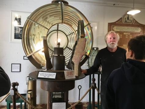 Fresenl Lens on display at Montauk Lighthouse