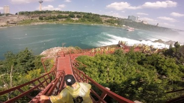 staircase down Niagara Gorge, Cave of the Winds tour, New York