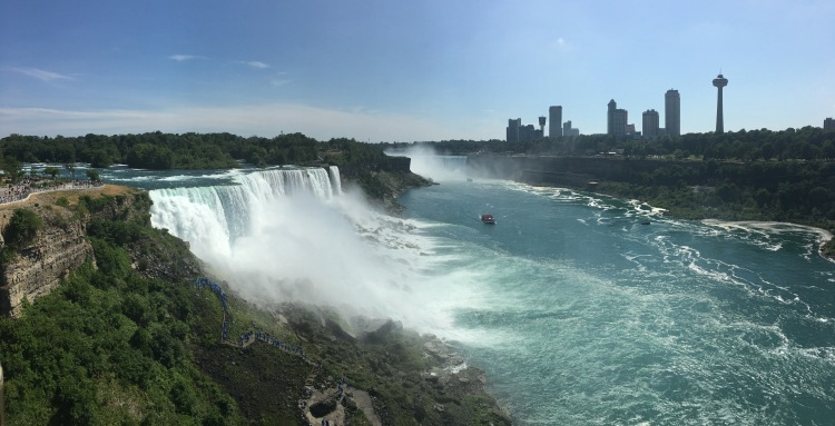 View of the falls from the Observation Tower, Niagara Fall State Park, New York