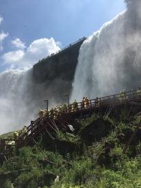 View of Bridal Veil Falls, Niagara State park, Staircase