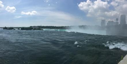 Top of the falls at Niagara, American Side
