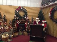 Santa Listening to Wishes