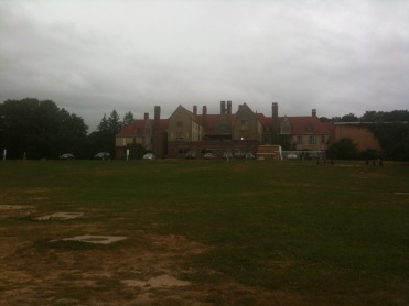 Back of Coindre Hall, big lawn