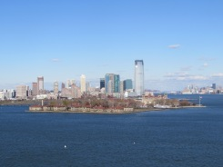 View of Ellis Island from Statue of Liberty, New York