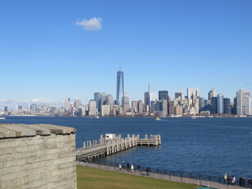 Manhattan Skyline, One World Trade Center, from Liberty Island