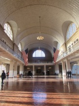 length view of Great Hall, immigration Center, Ellis Island, New York