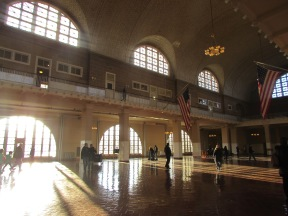 Inside the Great Hall of Immigration, Ellis Island, New York