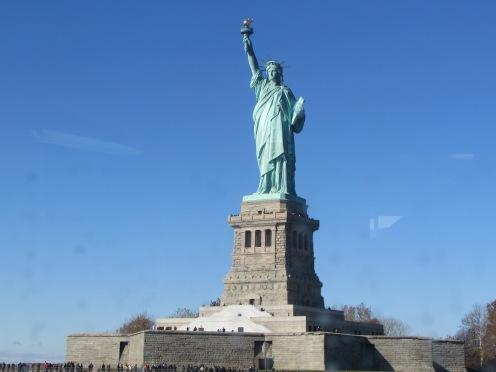 Lady Liberty on her 11 pt. Star Pedestal