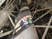 People on Spiral staircase inside Statue of Liberty