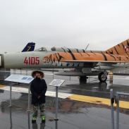Coolest paint job on the filght deck- MiG-21