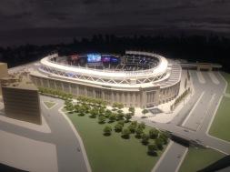 Miniature model of Yankee Stadium