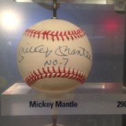 "Mickey Mantle from the ""Ball Wall"""