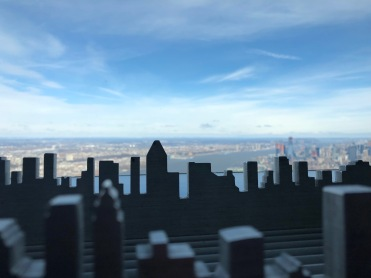 Mini city cut out to keep kids off the heating elements, but fun for photo effects.