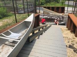View of Canoe ramp, Peconic River, Long Island, New York