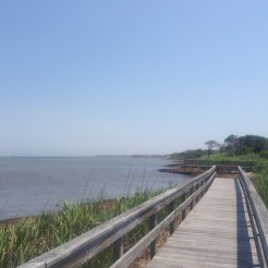boardwalk leading to the Great South Bay, Sailor's Haven, Fire Island