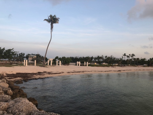 View of the shoreline from the rock jetty at Bahia Honda State Park, Florida