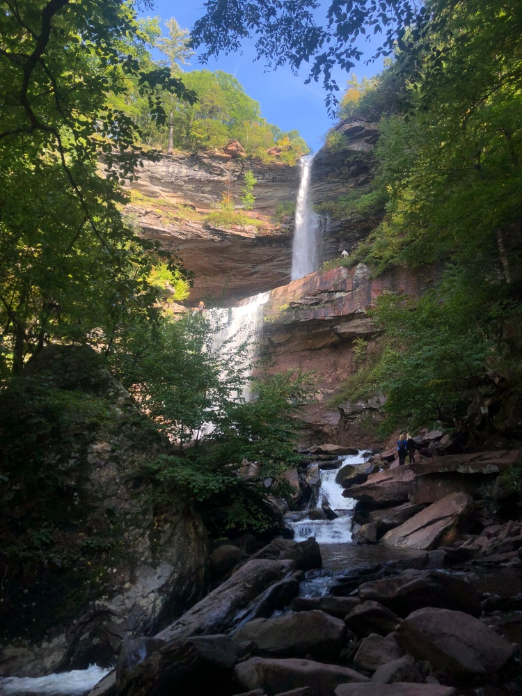 Two tier waterfall, Kaaterskill Falls, Catskill Mountains, New York