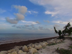 View of the Atlantic Ocean from US1, Florida Keys, Florida
