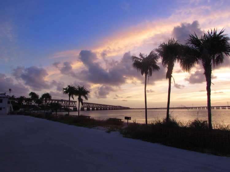 Start of Sunrise at the beach, Bahia Honda State Park, Florida