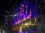 Saks Fifth Avenue NYC Building Facade Light Display for Christmas