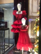 Saks Fifth Avenue NYC Holiday Window Display Red Dresses