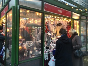 Bryant Park, NYC, Winter Park holiday village kiosk shopping