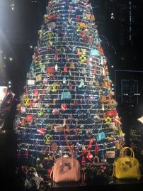 Louis Vuitton NYC holiday window display Keychain Christmas Tree
