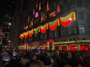 Saks Fifth Avenue NYC Building Facade Light Show at Christmas
