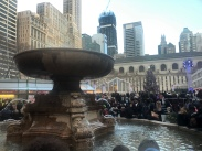 Fountain at Bryant Park during the holidays