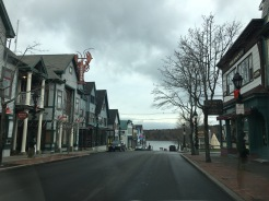 Street View of the village overlooking Bar harbor, Maine