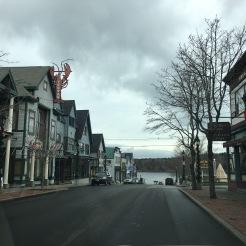 Street View of village overlooking Bar Harbor, Maine