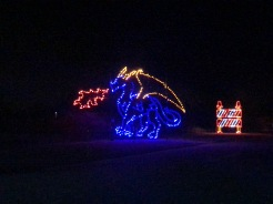 Holiday Magic of Lights at Jones Beach, NY dragon