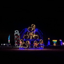 Holiday Magic of Lights at Jones Beach, NY seven swans