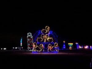 Holiday Magic of Lights at Jones Beach, NY seven swans