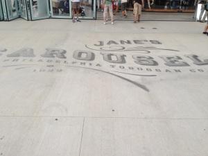 Jane's Carousel Sidewalk Art in Brooklyn Bridge Park