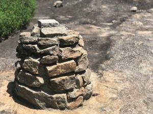 Stone trail marker, Cairn, on Arabia Mountain, Georgia
