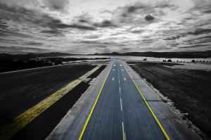 airfield airplane asphalt car