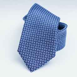 Blue necktie folded for presentation