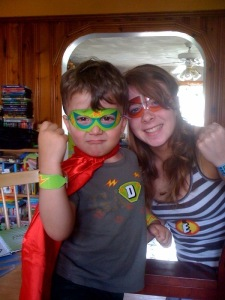 boy and girl sibling superheros
